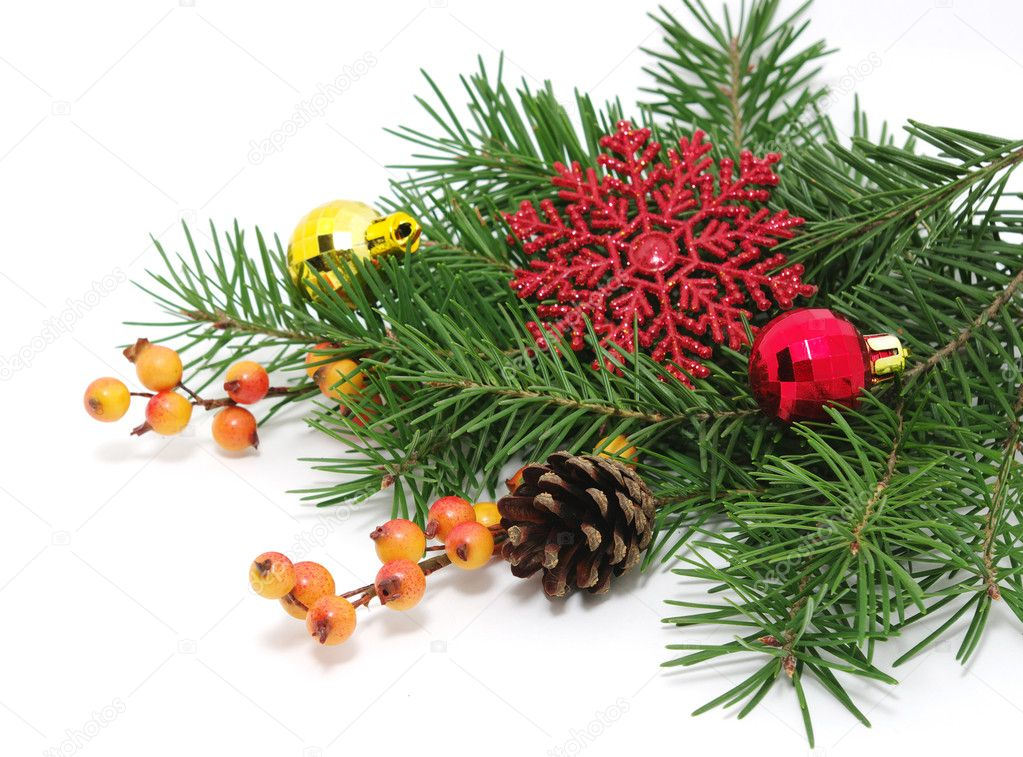 Christmas decoration  isolated on white — Stock Photo #8096258