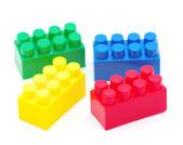Blocos de brinquedo plástico — Foto Stock