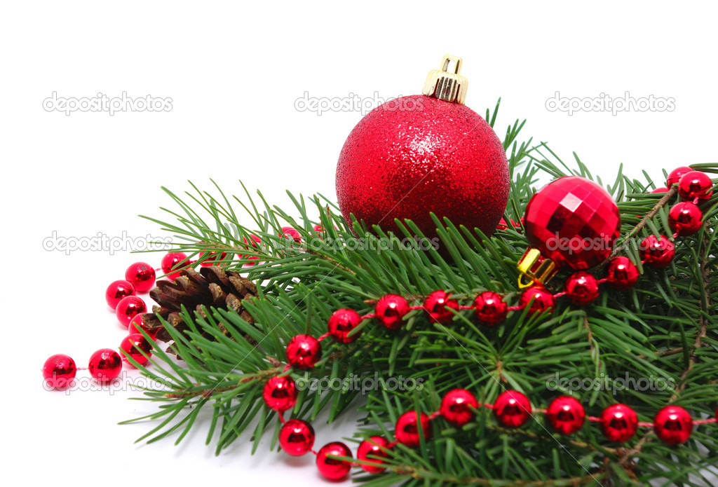 Christmas decoration  isolated on white — Stock Photo #9084857