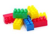 Blocchi giocattolo di plastica — Foto Stock