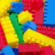 Plastic toy blocks — Stock Photo