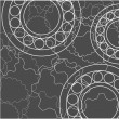 Stock Vector: Gears background