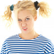 Woman with a funny look on her face — Stock Photo #8605875