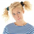 Woman with a funny look — Stock Photo