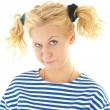 Woman with a funny look on her face — Stock Photo #8605884