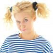 Woman with a funny look on her face — Stock Photo