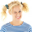 Woman with a funny look on her face — Stock Photo #8605891