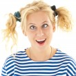Woman with a funny look on her face — Stock Photo #8605903