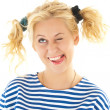 Woman with a funny look on her face — Stock Photo #8605904