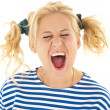 Woman with a funny look on her face — Stock Photo #8605910