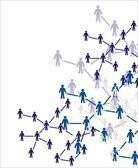 人类的数字。社会概念 — 图库矢量图片