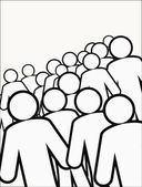 Koncepce vztahu lidské figures.social — Stock vektor