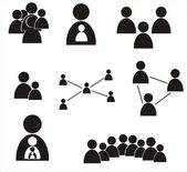 Human figures.Social relation concept — Stock Vector