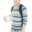 Young, attractive, happy male student with backpack . — Stock Photo #9368837