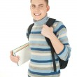 Young attractive happy male student with backpack . — Stock Photo #9368839