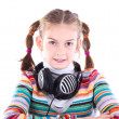 Stock Photo: Little girl in headphones