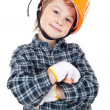 Little boy with helmet — Stock Photo