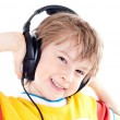 Portrait of happy teenage boy with headphones — Stock fotografie