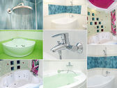 Bathroom collage — Stockfoto