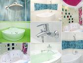 łazienka kolaż — Zdjęcie stockowe
