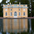 Pavilion by pond - Stock Photo
