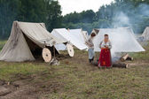 Camp of historical reconstruction — Stock Photo