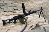 Russian Army machine gun — Stock Photo