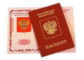 Russian passport on white background — Stock Photo