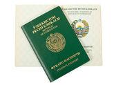 Uzbekistan passport — Stock Photo