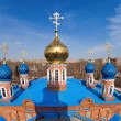 Stock Photo: Cupolas of Russiorthodox church in Samara, Russia