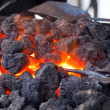 Stock Photo: Forge with hot flaring coal