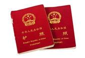 Chinese passports isolated on white background — Stock Photo