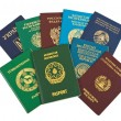 Foreign passports isolated on white  background — Stock Photo
