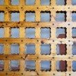Massive wooden lattice — Stock Photo