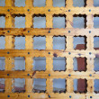 Massive wooden lattice - Stock Photo