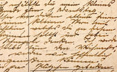 Fragment of an old handwritten letter, written in German — Stock Photo