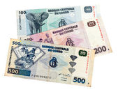 Banknotes of the Congo isolated on white background — Stock Photo