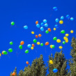 Balloons against the blue sky - Foto Stock