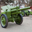 Stock Photo: Old soviet field gun