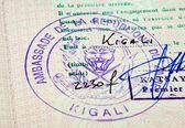 Old passport stamp — Stock Photo