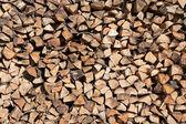 Stack of firewood, closeup — Stock Photo