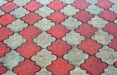 Red and grey paving tiles — Stock Photo