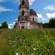 Old deserted church in Novgorod region, Russia - Stock Photo