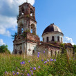 Old deserted church in Novgorod region, Russia — Zdjęcie stockowe #8963781