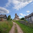 Foto de Stock  : Old deserted church in Novgorod region, Russia