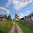 Old deserted church in Novgorod region, Russia - Zdjęcie stockowe