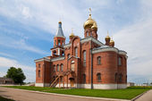 View of beautiful church in Samara region, Russia — Foto de Stock