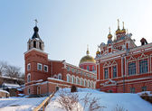 Iversky monastery in Samara, Russia. Winter — Stock Photo