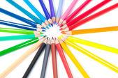 Mångfärgade pennor — Stockfoto