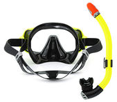 Snorkel and mask for diving — Stock Photo